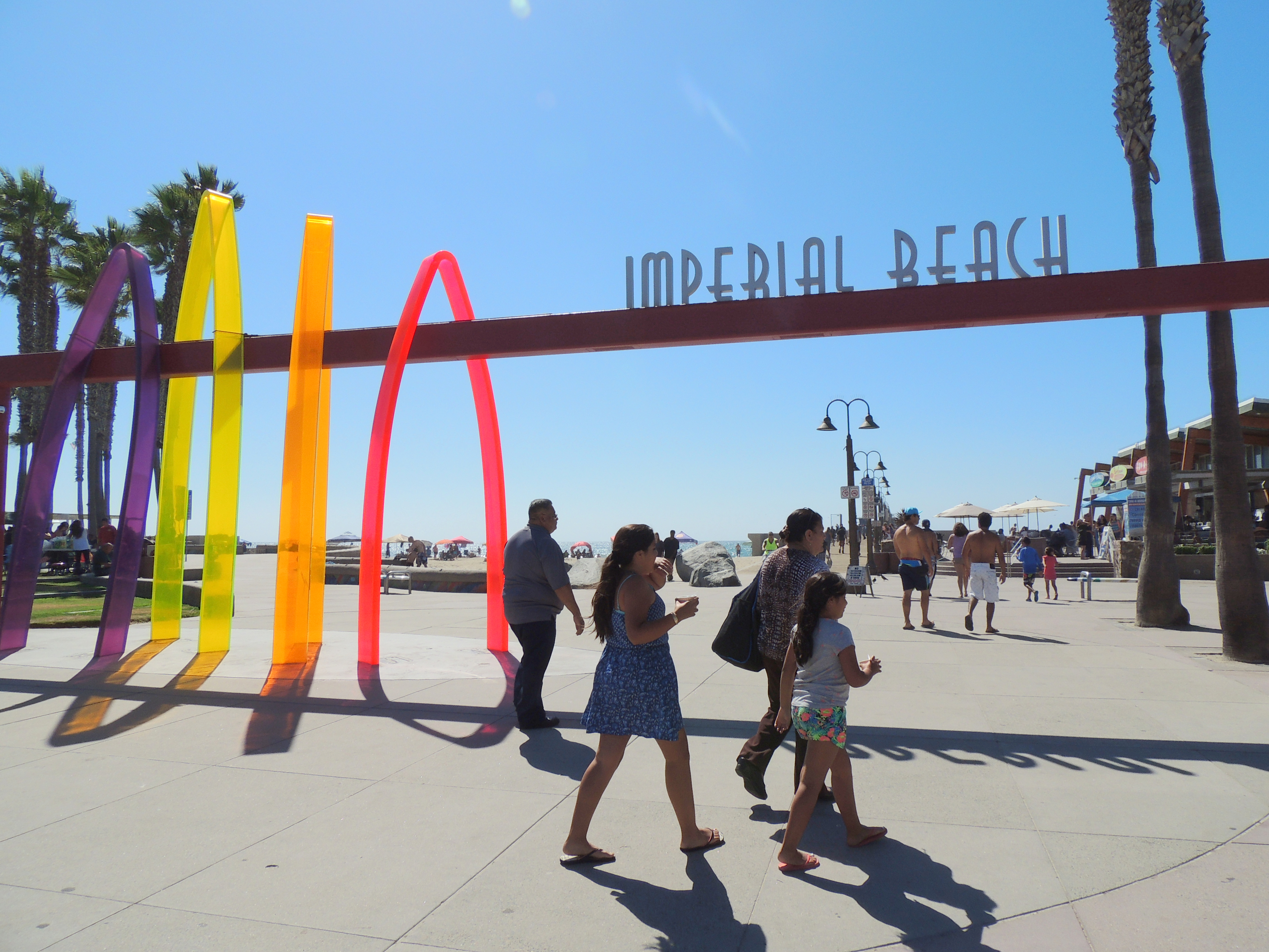 At the foot of Imperial Beach pier on the last stretch of United States beach before Mexico