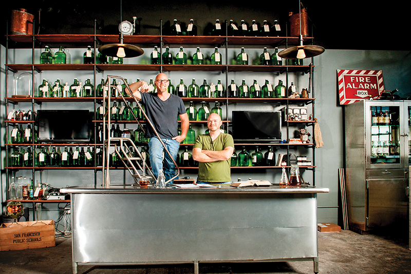 st george spirits master distiller lance winters, head distiller-blender dave smith copy