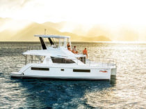 Leopard 43 – Ample accommodations, fuel efficiency and simple maneuvering make this cat a good option for new boaters.
