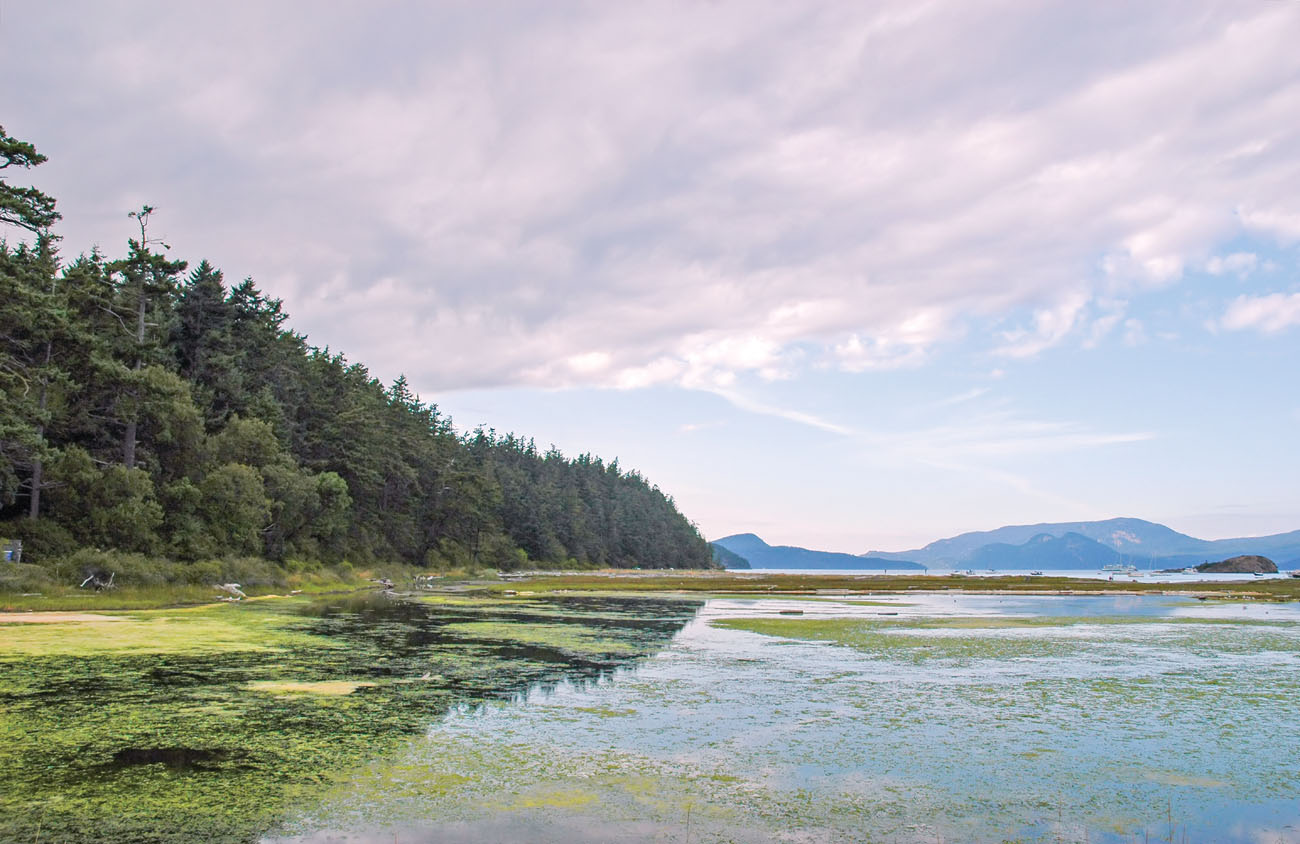 Spencer Spit, once a gathering place for the local Salish Indians, is now a marine state park on the eastern shoreline of Lopez Island.