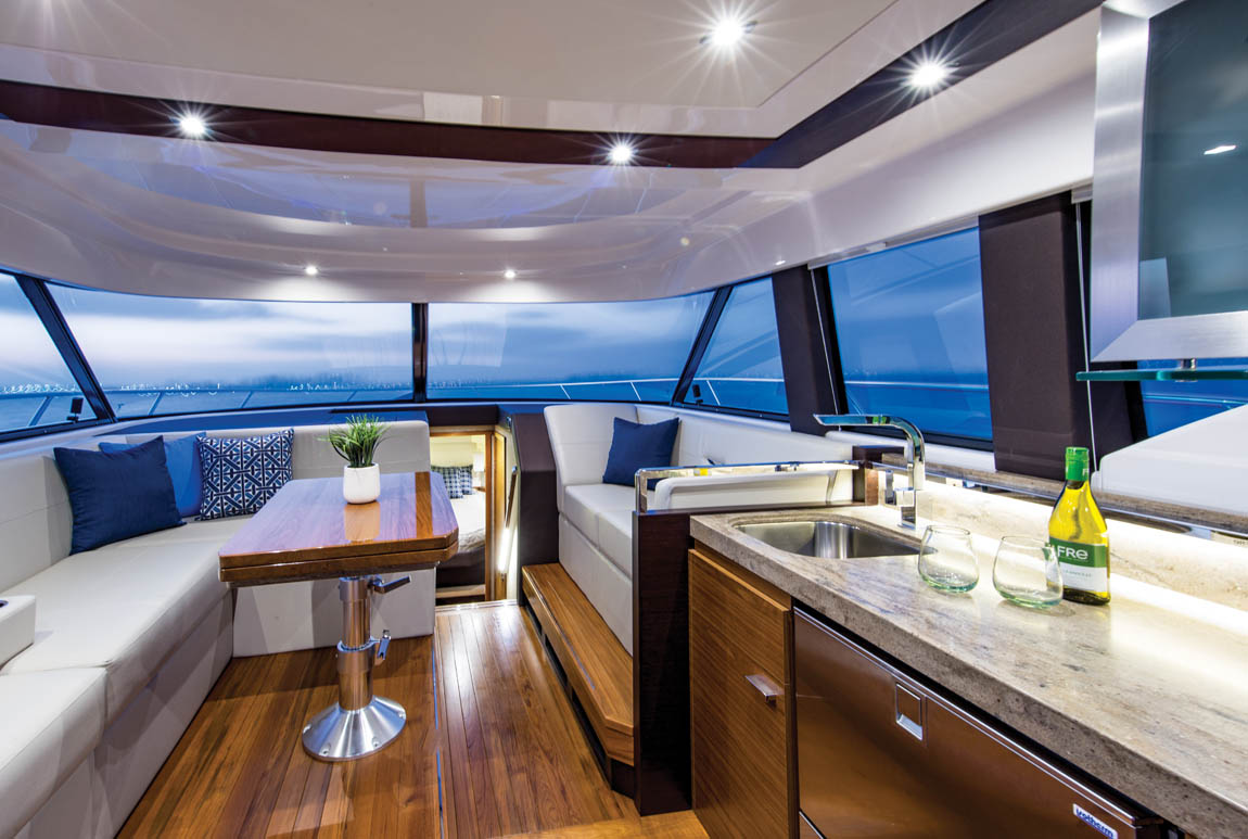 Tiara 44 Flybridge – Salon and Galley